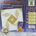 Adventus-Papier Gold-Weiß