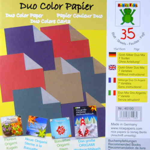 Duo-Color Kraftpapier Mix 15cm
