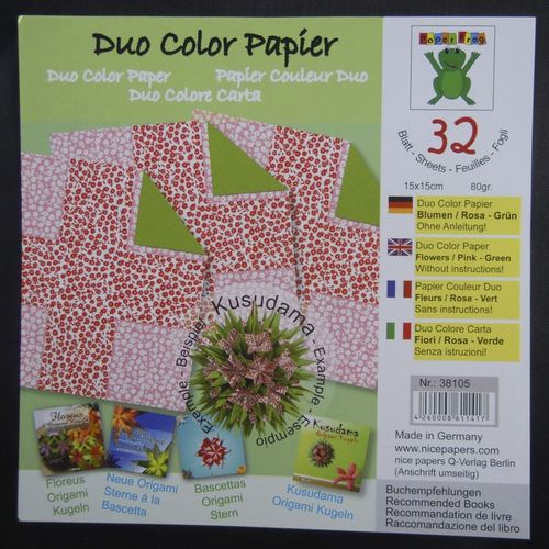 Glanzpapier Duo-Color Rosa-Grün