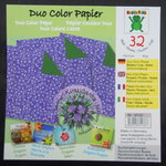 Glanzpapier Duo-Color Lila-Grün