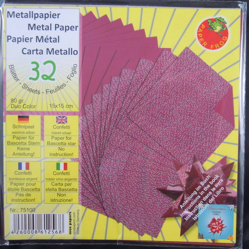 Glanzpapier Duo-Color Metall Weinrot