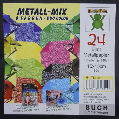 Glanzpapier Duo-Color Metall Mix