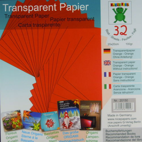 Transparentpapier Orange