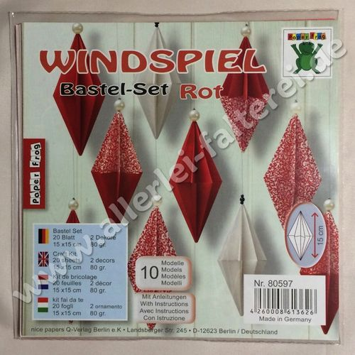 Windspiel Bastel-Set rot