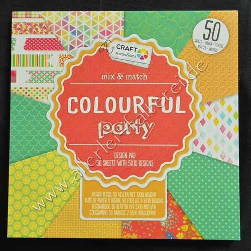 "Paper Block ""Colorful Party"""